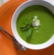 Мятно-гороховый суп-пюре