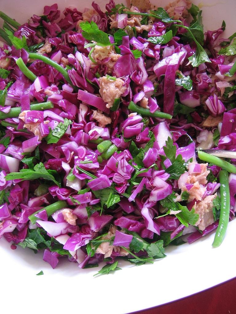 Салат из красной капусты в блендере